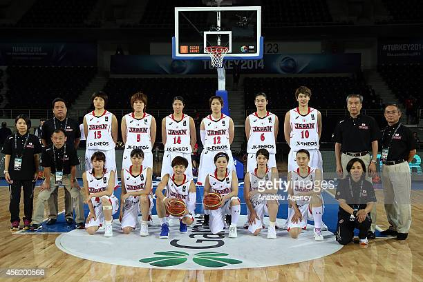 Japan's players Kumiko Oba , Maki Takada , Yuka Mamiya , Chinatsu Yamamoto , Michiko Miyamoto , Emi Kudeken , Ramu Tokashiki , Mika Kurihara , Moeko...