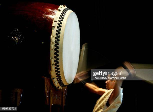 Japan's premier solo Taiko drummer Eitetsu Hayashi who will be performing with TaikOz at the Sydney Town Hall 8 February 2006 SMH Picture by STEVEN...