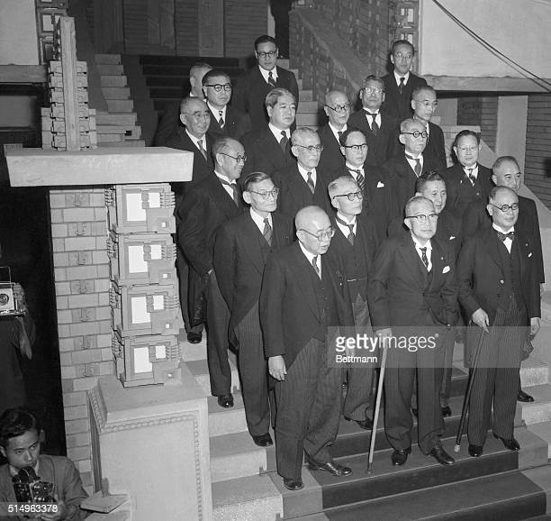 Japan's Prime Minister Ichiro Hatoyama is shown in a recent photo with his full cabinet in Tokyo after presentation to the emperor. Among those shown...