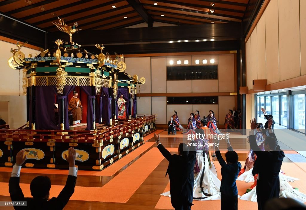 Enthronement Ceremony of Japanese Emperor Naruhito : Nyhetsfoto