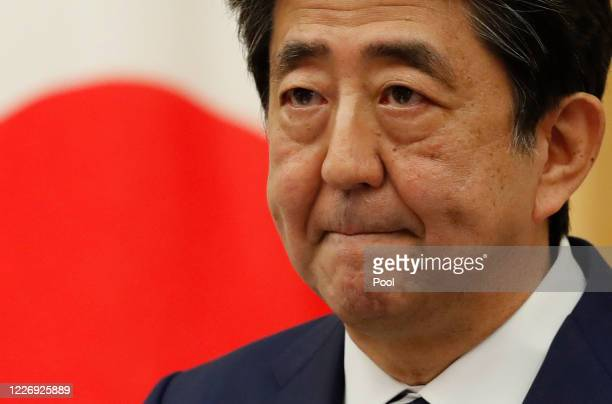 Japan's Prime Minister Shinzo Abe speaks at a news conference on May 25, 2020 in Tokyo, Japan.