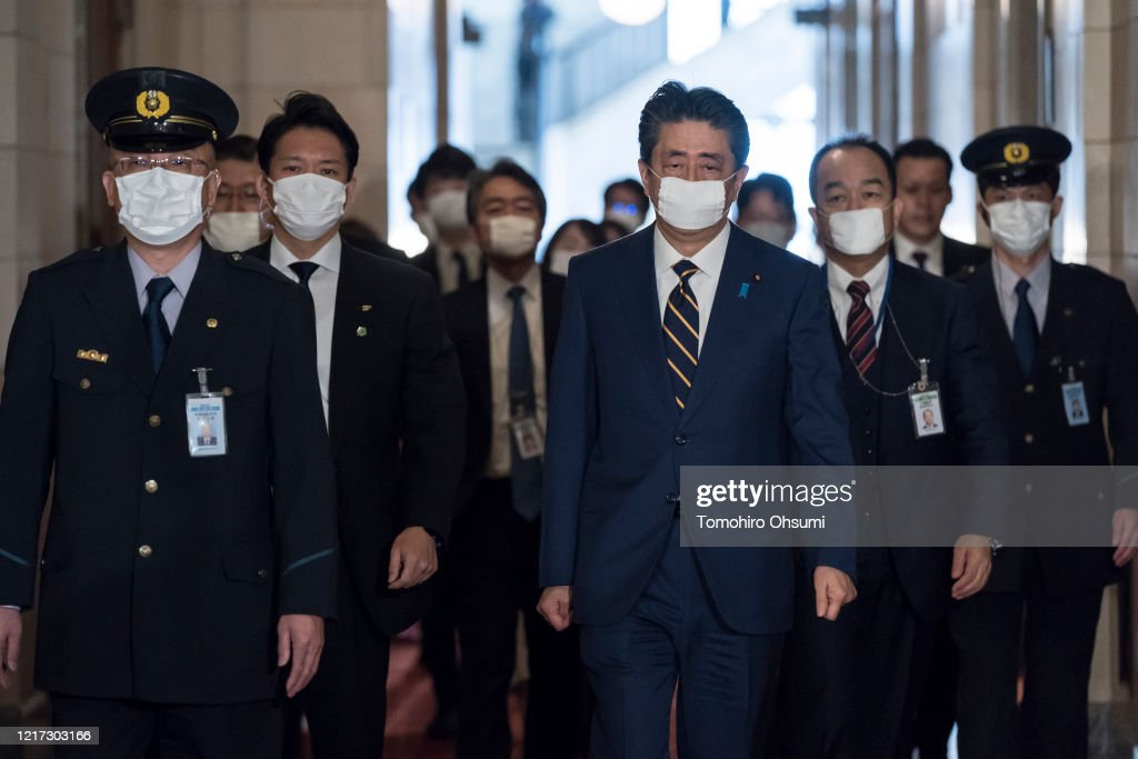 Japan To Declare A State Of Emergency To Contain Coronavirus Outbreak : ニュース写真