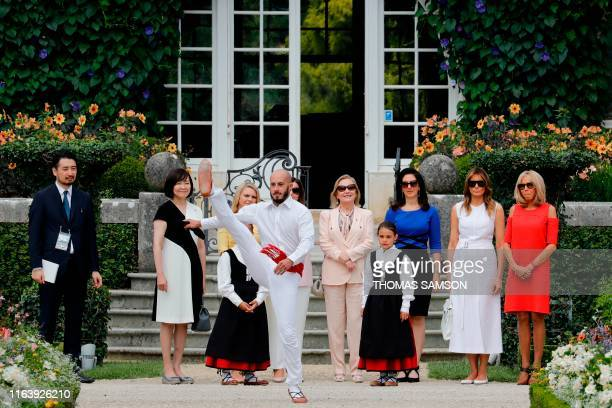 Japan's Prime Minister's wife Akie Abe European Council President's wife Malgorzata Tusk Australia's Prime Minister's wife Jenny Morrison Chile's...