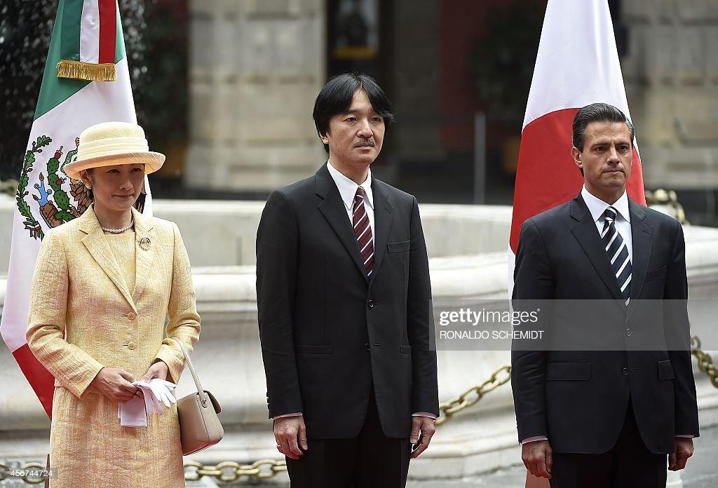 MEXICO-JAPAN-ROYALS-PENA NIETO-AKISHINO : News Photo