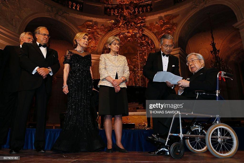FRANCE-JAPAN-CANCER-HEALTH-AWARD : News Photo