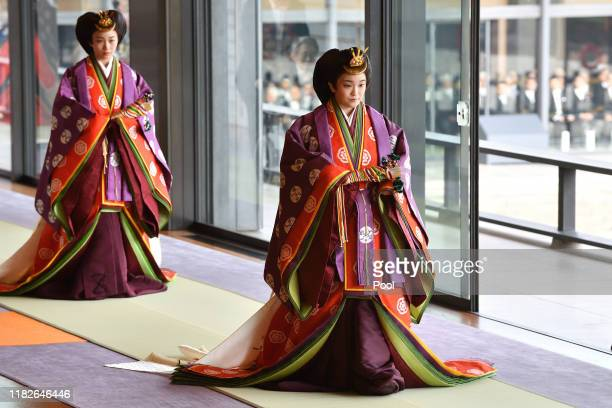 Japan's Princess Mako attends the enthronement ceremony where Emperor Naruhito officially proclaimed his ascension to the Chrysanthemum Throne at the...