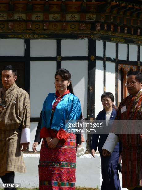 Japan's Princess Mako makes her way to the Changlingmethang National Archery ground in Thimphu on June 3 2017 Japan's Princess Mako the oldest of...