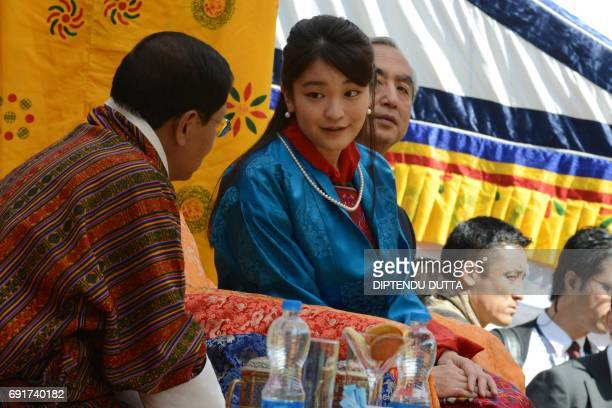 Japan's Princess Mako speaks with delegates at the Changlingmethang National Archery ground in Thimphu on June 3 2017 Japan's Princess Mako the...