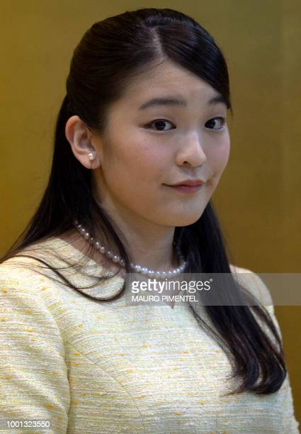 Japan's Princess Mako the eldest granddaughter of Emperor Akihito and Empress Michiko is pictured during an event at the Nikkei Association in Rio de...