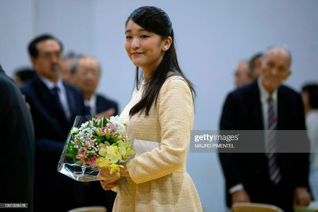 BRAZIL-JAPAN-ROYALS-PRINCESS MAKO : News Photo