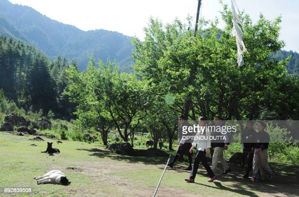 Japan's Princess Mako walks to Taktsang Monastery on the outskirts of Paro on June 6 2017 Princess Mako the oldest of Emperor Akihito's grandchildren...