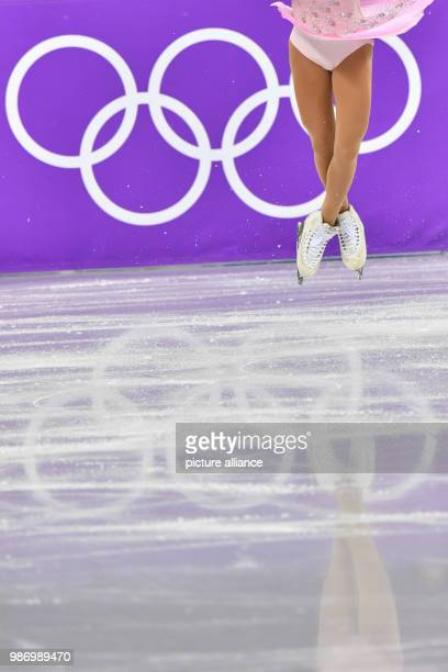 Japan's Satoko Miyahara in action during the women's figure skating short program event during the Pyeongchang 2018 Winter Olympic Games, in...