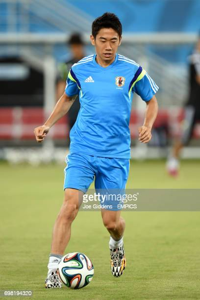 Japan's Shinji Kagawa during a training session at Arena das Dunas in Natal