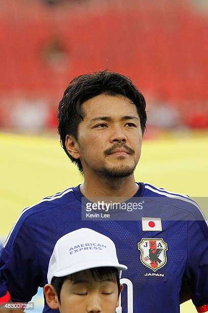 Japan's Shinzo Koroki stands on the field before a match against South Korea during EAFF East Asian Cup 2015 final round in Wuhan Sports Center...