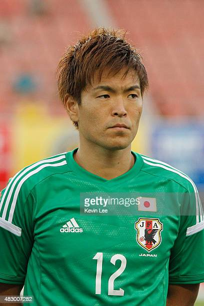 Japan's Shusaki Nishikawa stands on the field before a match against South Korea during EAFF East Asian Cup 2015 final round in Wuhan Sports Center...