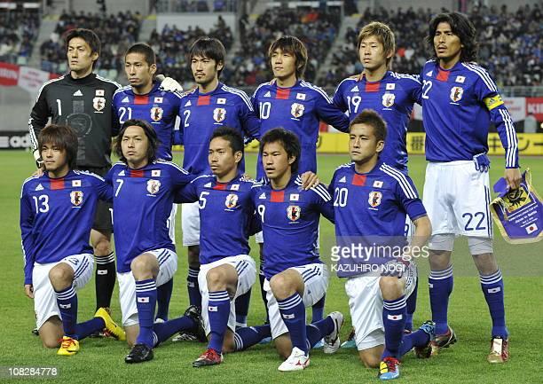 Japan's starting players Seigo Narazaki Yuhei Tokunaga Yuki Abe Shunsuke Nakamura Yuzo Kurihara Yuji Nakazawa Shinzo Koroki Yasuhito Endo Yuto...