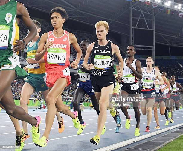 Japan's Suguru Osako competes during the men's 10000meter final in the athletics competition of the Rio de Janeiro Olympic Games on Aug 13 2016