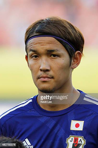 Japan's Takashi Usami poses for a picture before the match against DPR Korea during EAFF East Asian Cup 2015 final round on August 2 2015 in Wuhan...