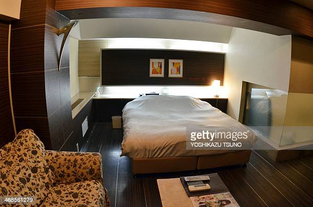 JapanSocietyValentinehotelsex by Karyn POUPEE This picture taken on February 10 2014 shows a room of the TwoWay hotel in Tokyo From rooms kitted out...
