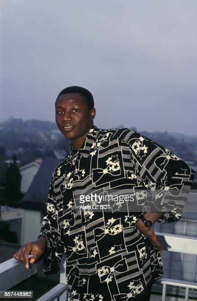Japhet N'Doram joueur du FC Nantes en fevrier 1993 a Nantes France