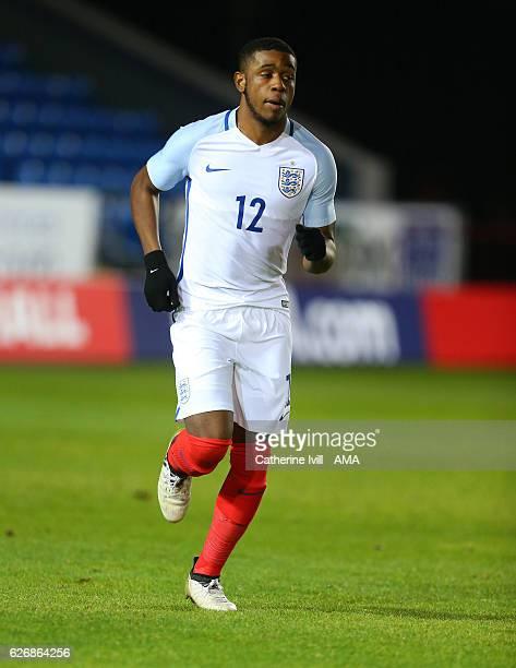 Japhet Tanganga of England U18 during the U18 International Friendly match between England and France at London Road Stadium on November 14 2016 in...