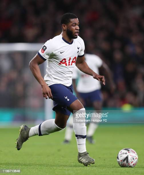 Japhet Tanganga of Tottenham Hotspur during the FA Cup Third Round Replay match between Tottenham Hotspur and Middlesbrough at Tottenham Hotspur...