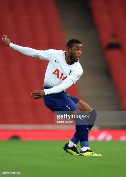 Japhet Tanganga of Tottenham Hotspur during the Premier League 2 match between Arsenal and Tottenham Hotspur at Emirates Stadium on August 31 2018 in...