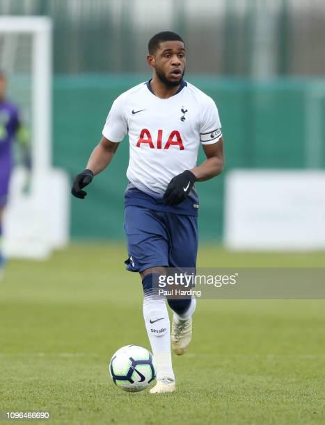 Japhet Tanganga of Tottenham Hotspur during the Premier League International Cup match between Norwich City and Tottenham Hotspur U23 on January 18...