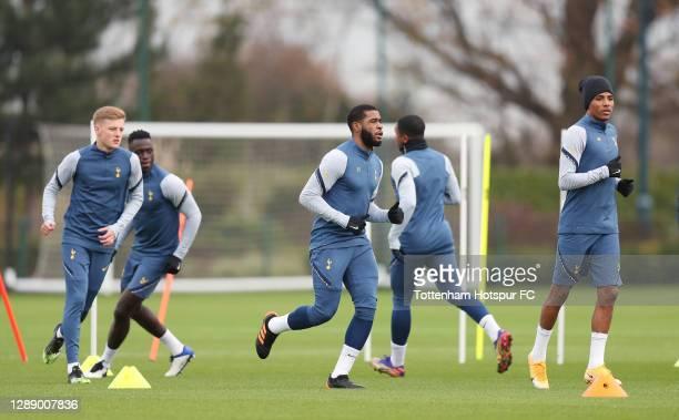 Japhet Tanganga of Tottenham Hotspur during the Tottenham Hotspur training session at Tottenham Hotspur Training Centre on December 02, 2020 in...