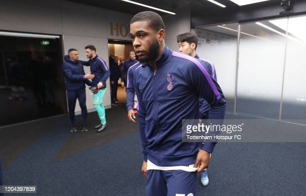 Japhet Tanganga of Tottenham Hotspur in the tunnel prior to the FA Cup Fourth Round Replay match between Tottenham Hotspur and Southampton at...