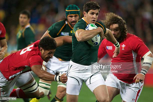 Jaque Fourie, South Africa, in action during the Wales V South Africa, Pool D match during the Rugby World Cup in Wellington, New Zealand,. 11th...