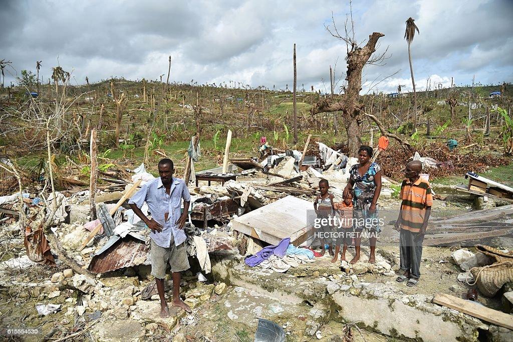 HAITI-WEATHER-HURRICANE : News Photo
