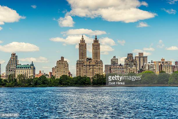 jaqueline kennedy onassis reservoir, new york, usa - central park reservoir stock pictures, royalty-free photos & images