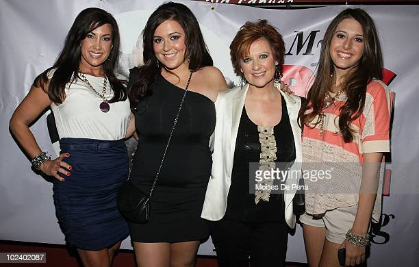 Jaqueline Laurita Lexi Manzo Caroline Manzo and Lauren Manzo attend the benefit performance of My Big Gay Italian Wedding to promote marriage...