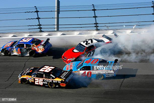 Jaques Villeneuve's day and hopes to make the 50th running of the Daytona 500 end in turn four after a crash