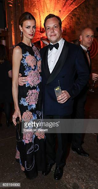 Jaquetta Wheeler and James Alsopp attend the Save The Children Winter Gala at The Guildhall on November 22 2016 in London England