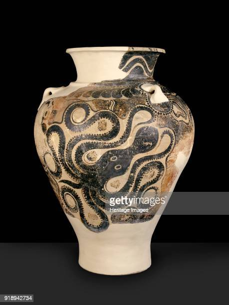 Jar Late Minoan II Period Palace style jar octopus with six tentacles Dimensions height 745 cmdiameter 54 cmweight 25 kg estimated