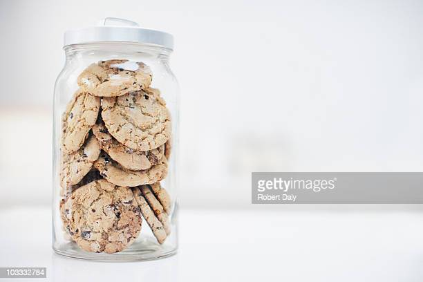jar of cookies - jar stock pictures, royalty-free photos & images