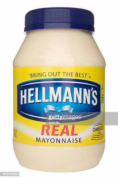 jar of mayonnaise. - mayonnaise stock photos and pictures