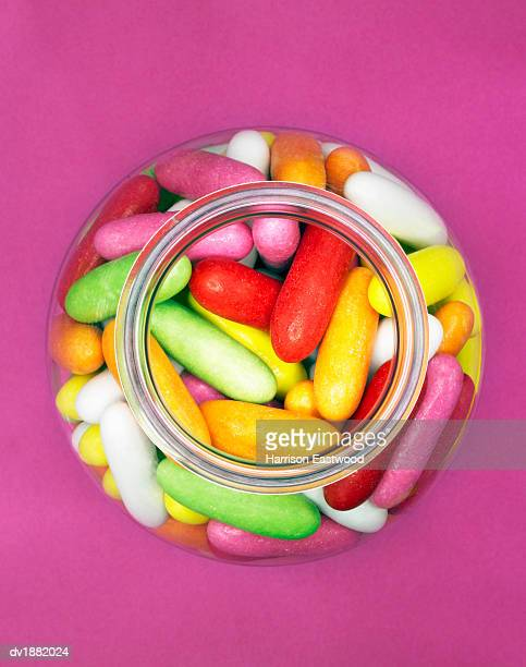 Jar of Multi-coloured Jelly Beans