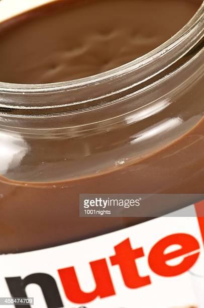 barattolo di alla nutella - nutella foto e immagini stock