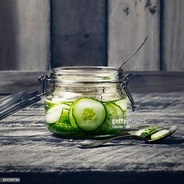 Jar of pickled cucumbers