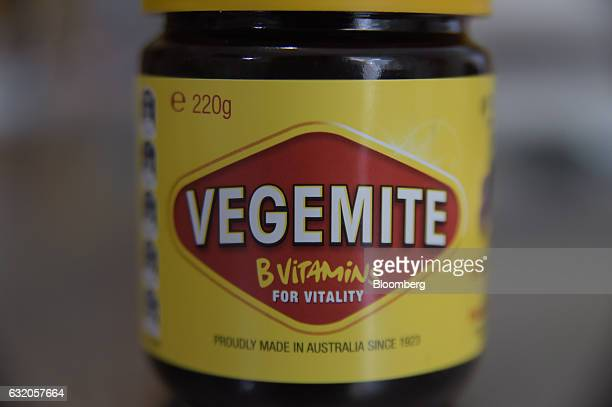 A jar of Vegemite spread is arranged for a photograph in Melbourne Australia on Thursday Jan 19 2017 Bega Cheese Ltd who has acquired Vegemite as...