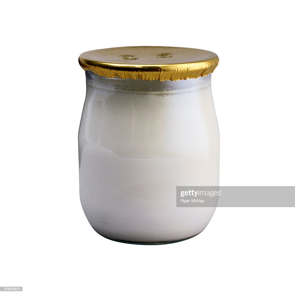 Jar of Yogurt : Stock Photo