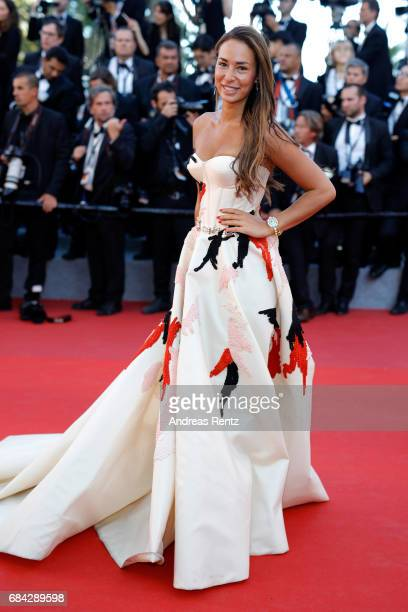 Jara Ghadri attends the 'Ismael's Ghosts ' screening and Opening Gala during the 70th annual Cannes Film Festival at Palais des Festivals on May 17...