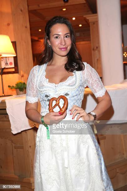 Jara Ghadri during the 27th Weisswurstparty at Hotel Stanglwirt on January 19 2018 in Going near Kitzbuehel Austria