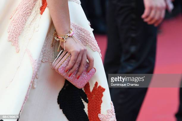 Jara Ghadribag detail attends the Ismael's Ghosts screening and Opening Gala during the 70th annual Cannes Film Festival at Palais des Festivals on...