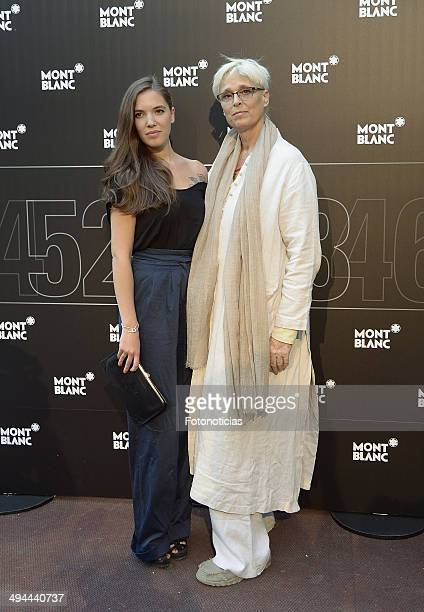 Jara Tristancho and Lucia Dominguin attend the new Montblanc boutique inauguration cocktail party and dinner at the Grand Melia Fenix de Madrid on...