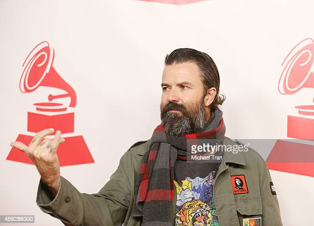 Jarabe de Palo arrives at the 2014 Person of the Year honoring Joan Manuel Serrat held at The Mandalay Bay Resort and Casino at the Events Center on...