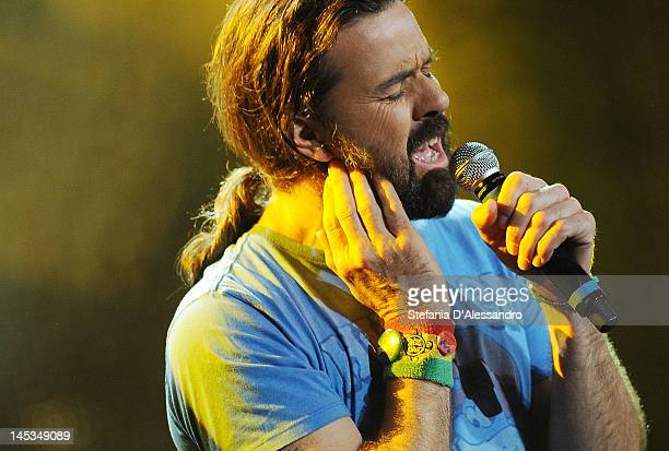 Jarabe De Palo performs live during 2012 Wind Music Awards held at Arena of Verona on May 26 2012 in Verona Italy